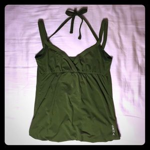 Green Dance/Yoga/Lounge Tank Top (XS)